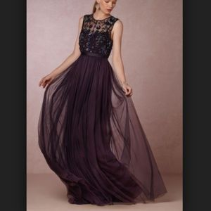 NWT Needle & Thread Anthro tulle beaded dress